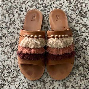 Frye Fringe Sandals - Lightly worn!